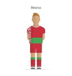 Belarus football player soccer uniform vector
