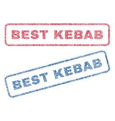 best kebab textile stamps vector image