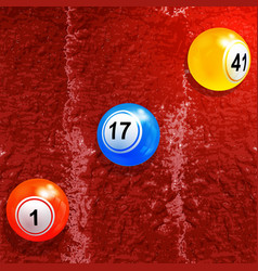Bingo lottery balls over textured paint background vector