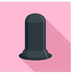 black condom icon flat style vector image