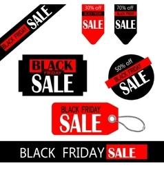 black friday sale tag design vector image