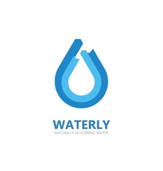 Blue water drop logo vector
