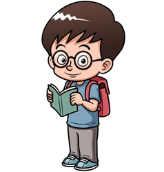 Boy go to school vector