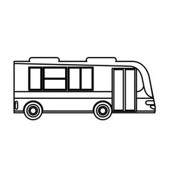 Bus transport passenger public outline vector