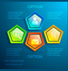 business digital infographic concept vector image