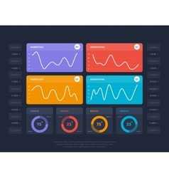 Business infographics concept with online index vector