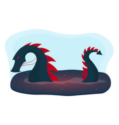 chinese traditional dragon east asia flat vector image