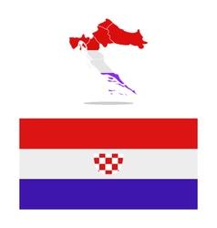 Croatia map with regions vector image