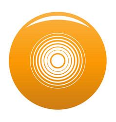 Equalizer radio icon orange vector