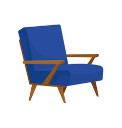 flat icon of comfortable armchair with soft vector image