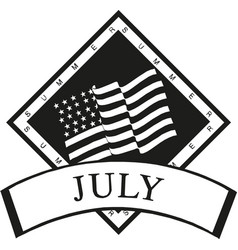 fourth july hand lettering inscription for vector image