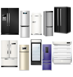 fridge refrigerator or freezer and vector image