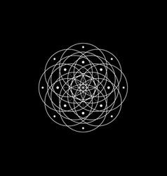 Geometric mystic mandala sacred geometry flower vector