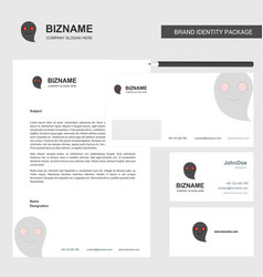 ghost business letterhead envelope and visiting vector image