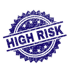 Grunge textured high risk stamp seal vector