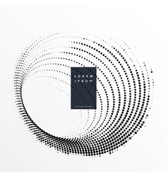 Halftone dots swirl effect background vector