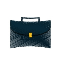 hand draw portfolio suitcase business color vector image