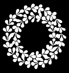 hand drawn decorative frame in form wreath vector image