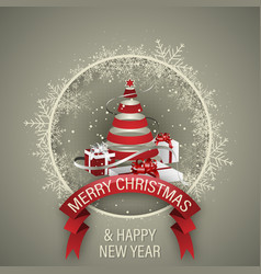 Holiday background merry christmas and happy new vector