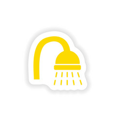 Icon sticker realistic design on paper shower vector