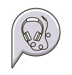 Isolated headphone icon vector