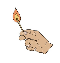 lighting a match vector image