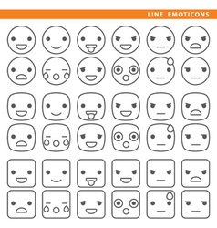 Line emoticons vector