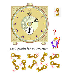 Logic puzzle game for smartest help wizard vector