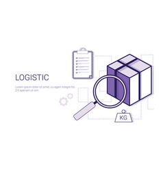 logistic delivery cargo shipping business concept vector image