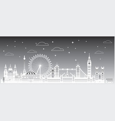 london city gradient 3 vector image