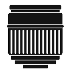 Macro lens icon simple style vector