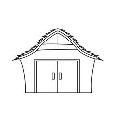 manger house wooden nativity design outline vector image