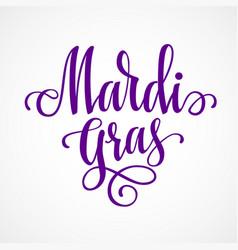 mardi gras lettering vector image