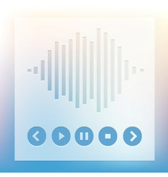 Media player buttons and equalizer vector image