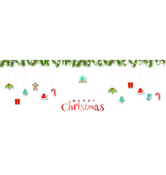 merry christmas holiday design decoration vector image