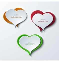 modern valentines day banners background vector image