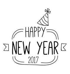 New year line logo image vector