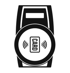 nfc payment device icon simple style vector image