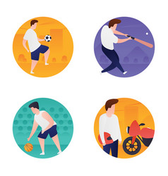 Olympic games flat icons set vector