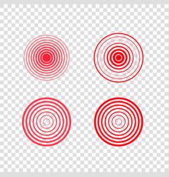 Pain target circles set vector