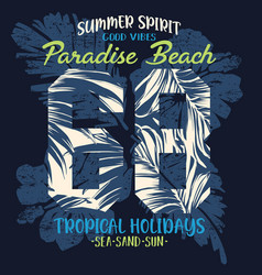 paradise beach tropical summer holiday vector image