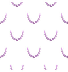 Pearl necklace pattern seamless vector
