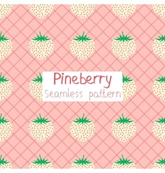 Pineberry seamless pattern vector image