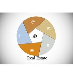 Real Estate hexagon infographic vector