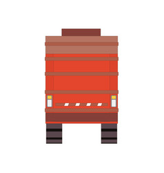red garbage truck isolated on white background vector image