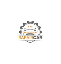 repair car logo design template inspiration vector image