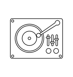 Retro music player icon vector