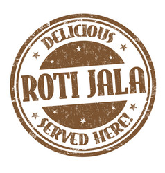 Roti jala sign or stamp vector