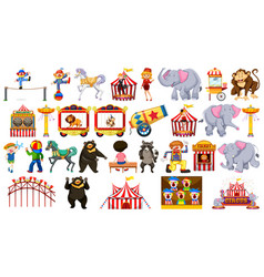 set circus element vector image