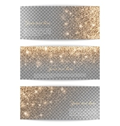 Set of horizontal banners transparent background vector